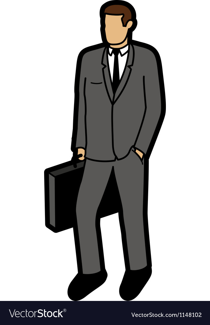 Modern business man vector | Price: 1 Credit (USD $1)
