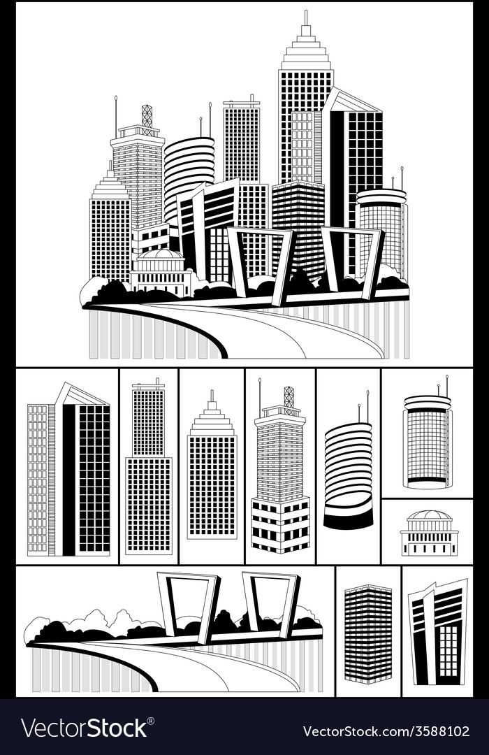 Modern metropolis vector | Price: 1 Credit (USD $1)