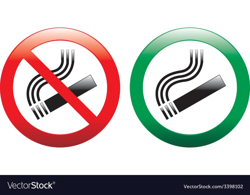 No smoking and smoking area signs vector | Price: 1 Credit (USD $1)