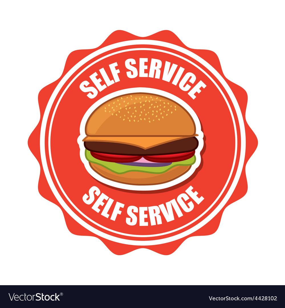 Self service vector | Price: 1 Credit (USD $1)