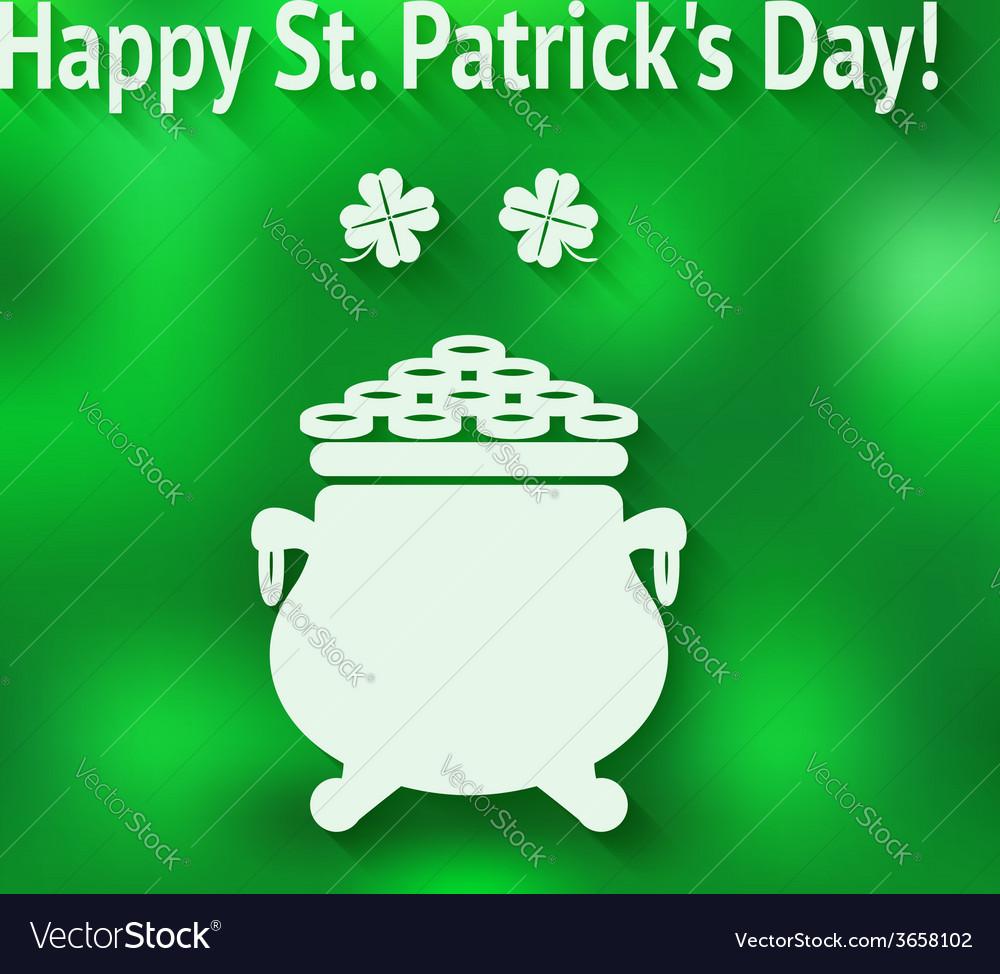 St patricks day card vector | Price: 1 Credit (USD $1)