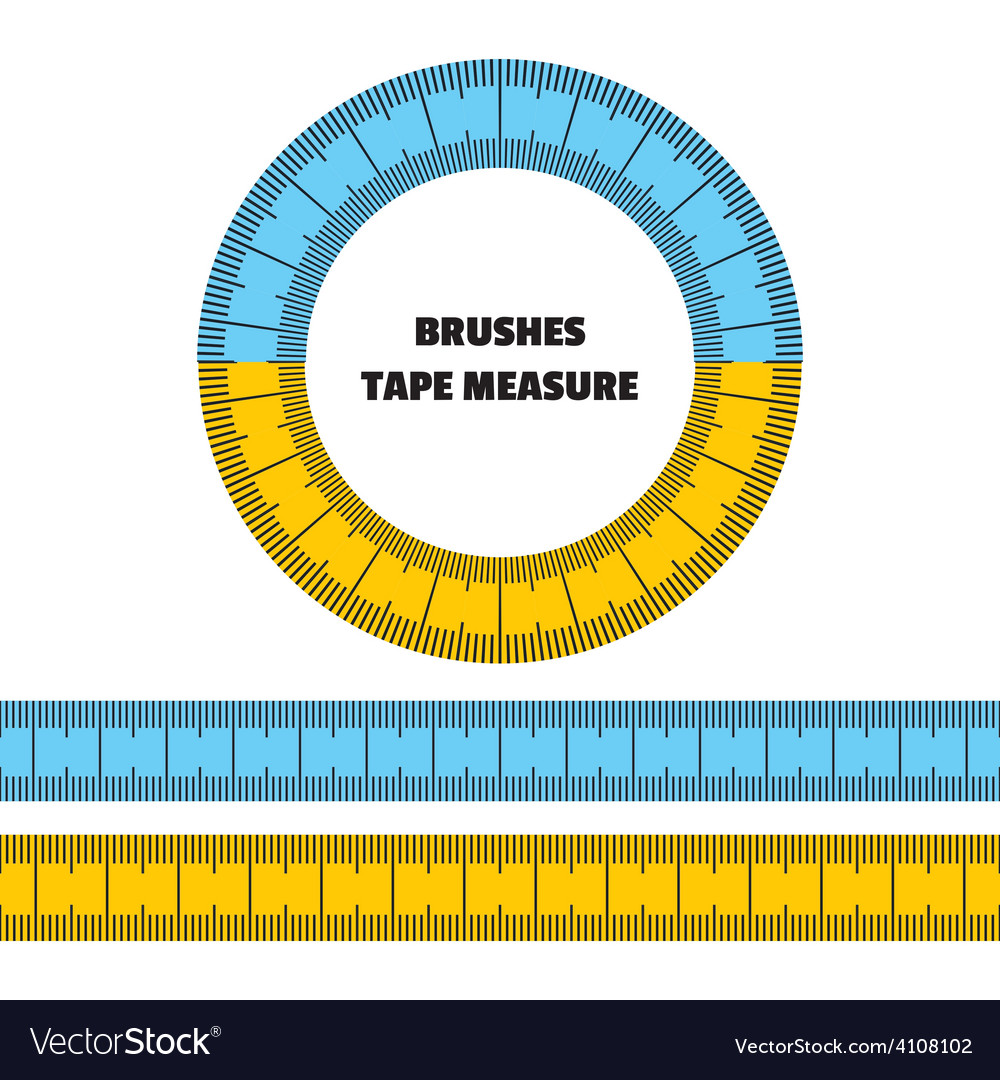 Tape measure set of brushes frame vector | Price: 1 Credit (USD $1)