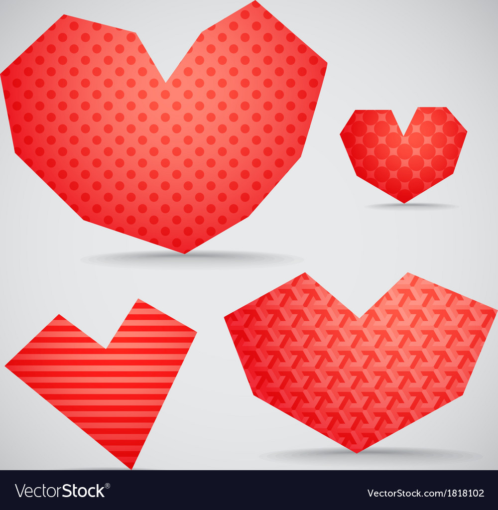 Textured valentine hearts collection vector | Price: 1 Credit (USD $1)