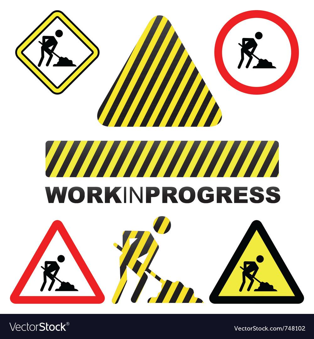Work in progress icon vector | Price: 1 Credit (USD $1)