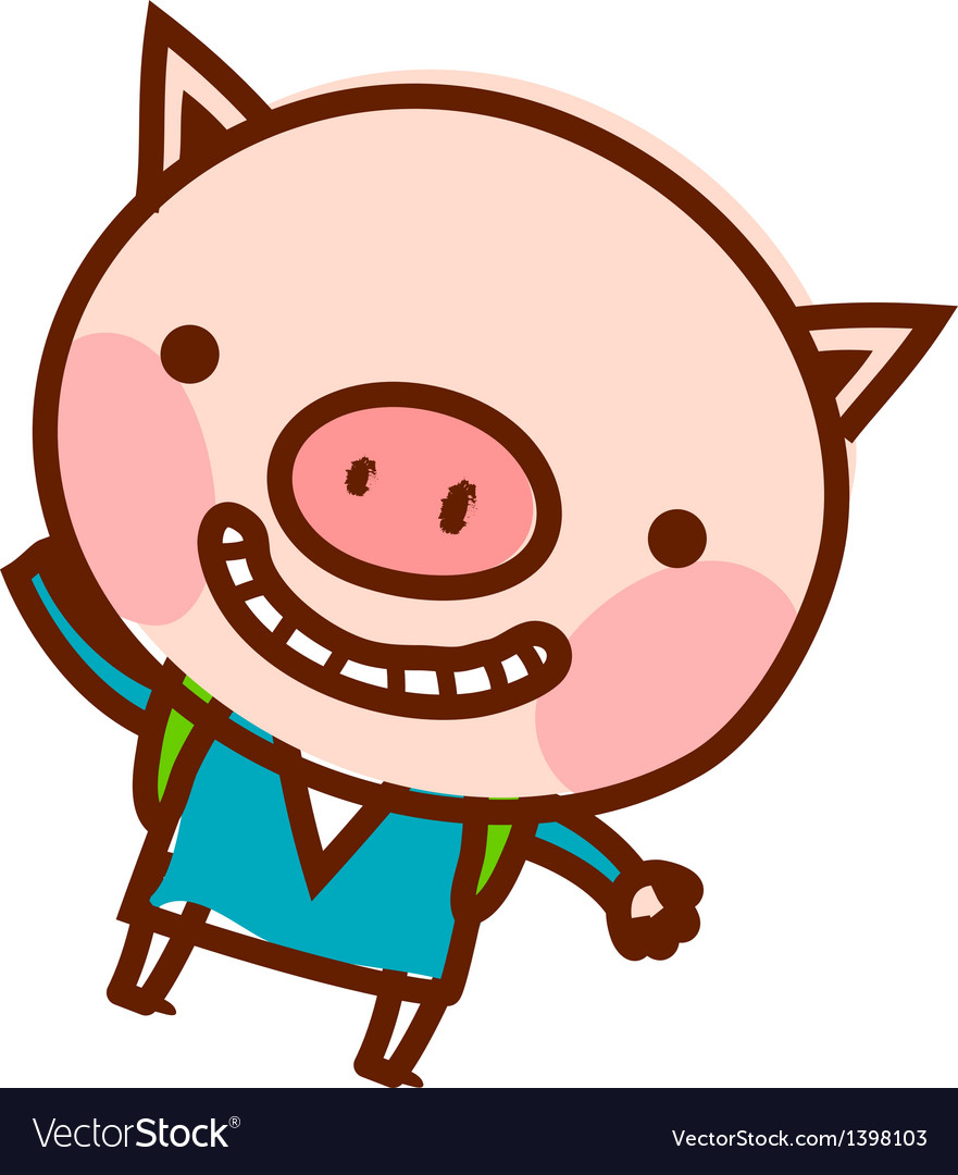 A smiling piggy vector | Price: 1 Credit (USD $1)