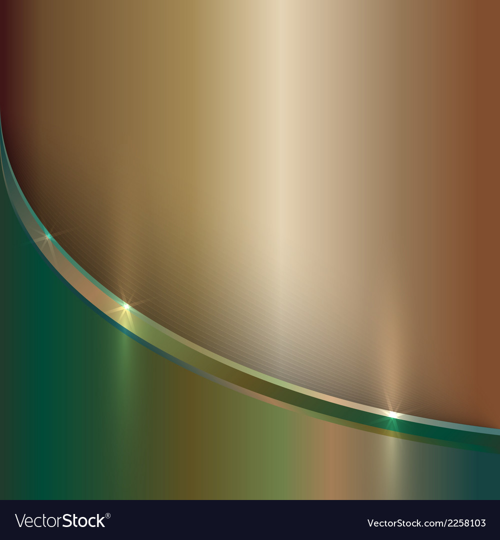 Abstract precious old metal background with curve vector | Price: 1 Credit (USD $1)