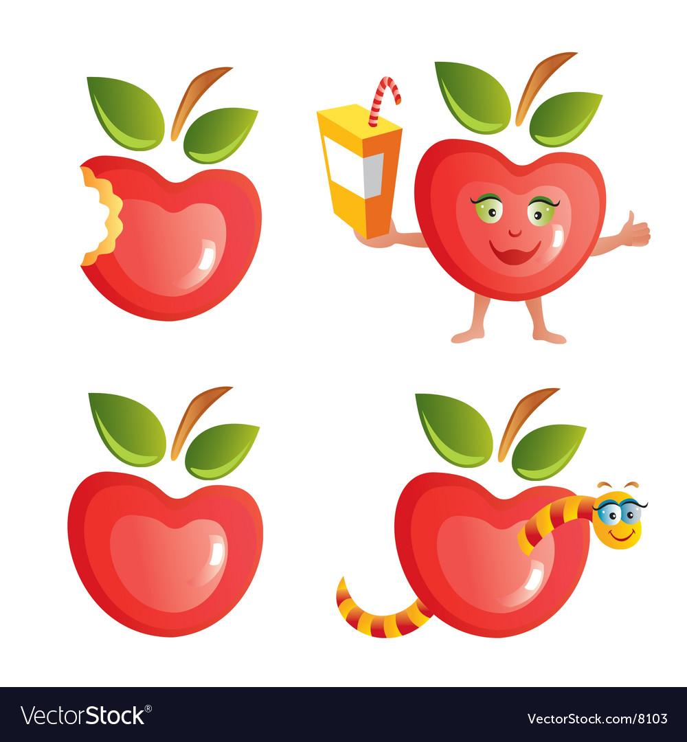 Apple icon set vector | Price: 3 Credit (USD $3)