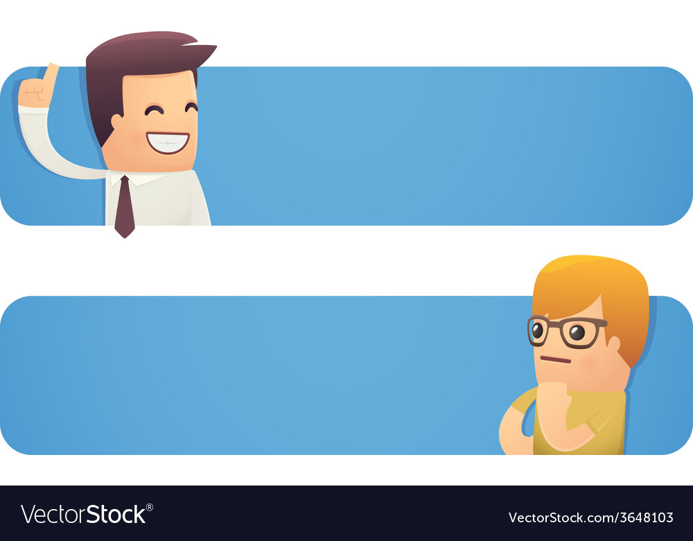 Banner with businessman and customer vector | Price: 1 Credit (USD $1)