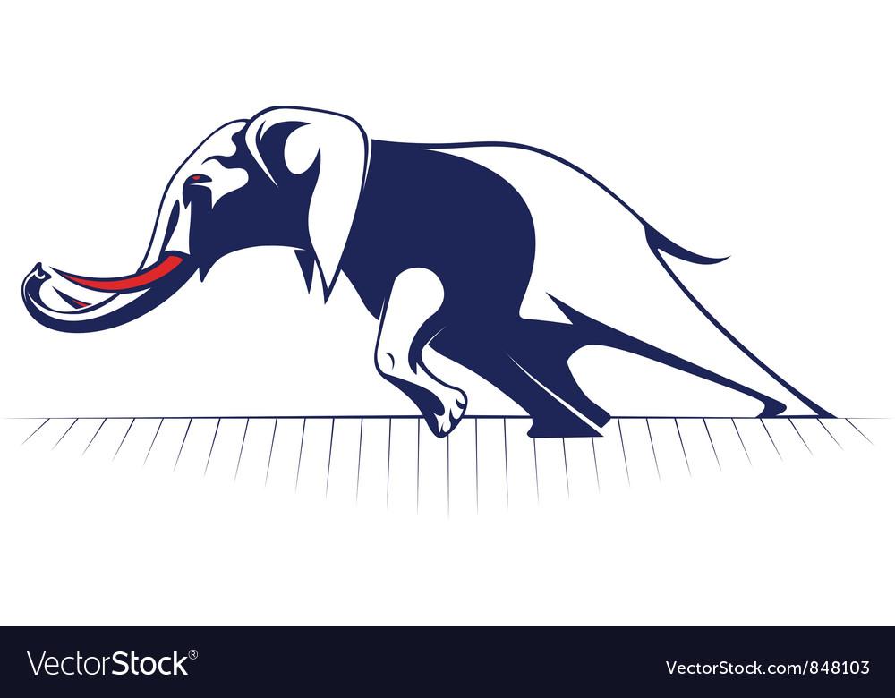 Cartoon elephant vector | Price: 1 Credit (USD $1)