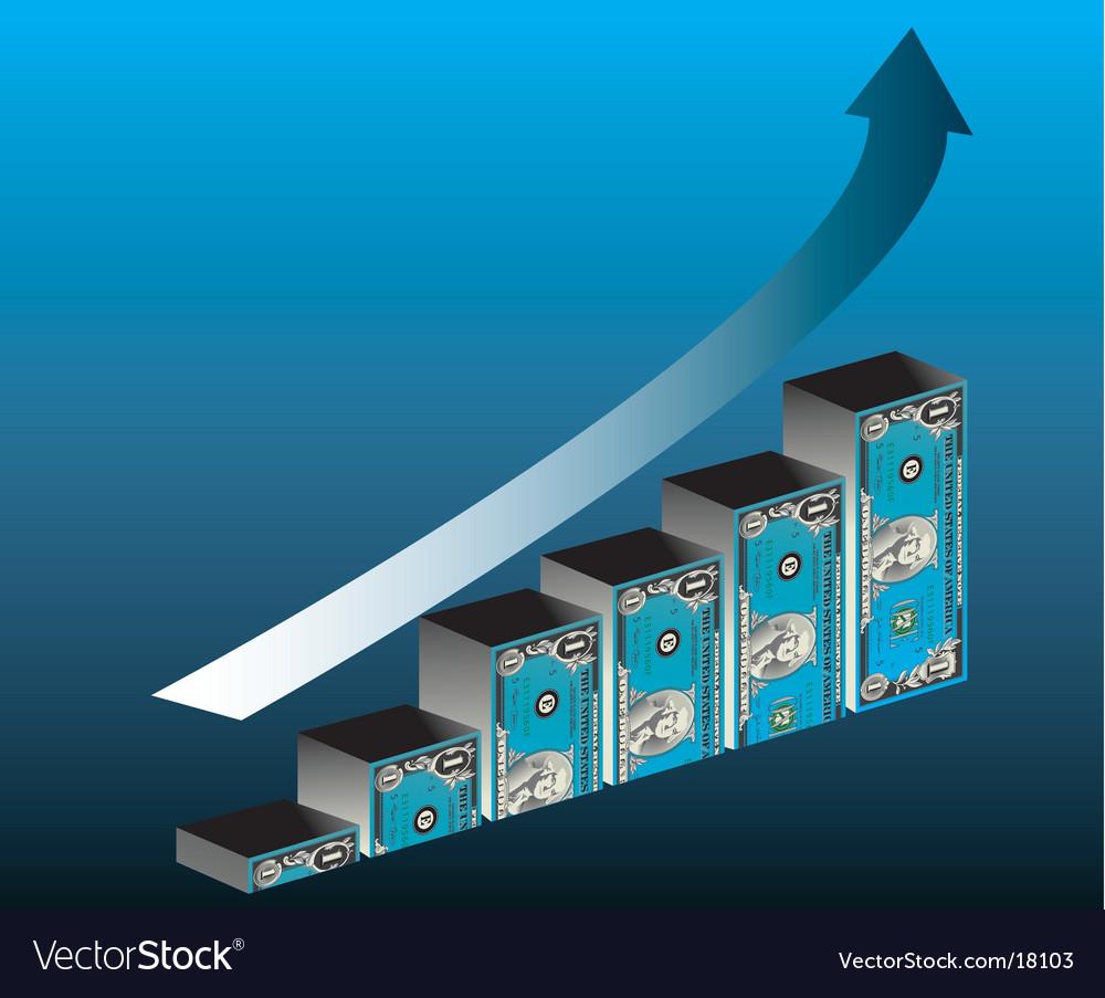 Dollar bar graph vector   Price: 1 Credit (USD $1)