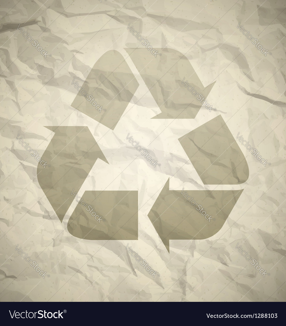 Recycled crumpled paper vector | Price: 1 Credit (USD $1)