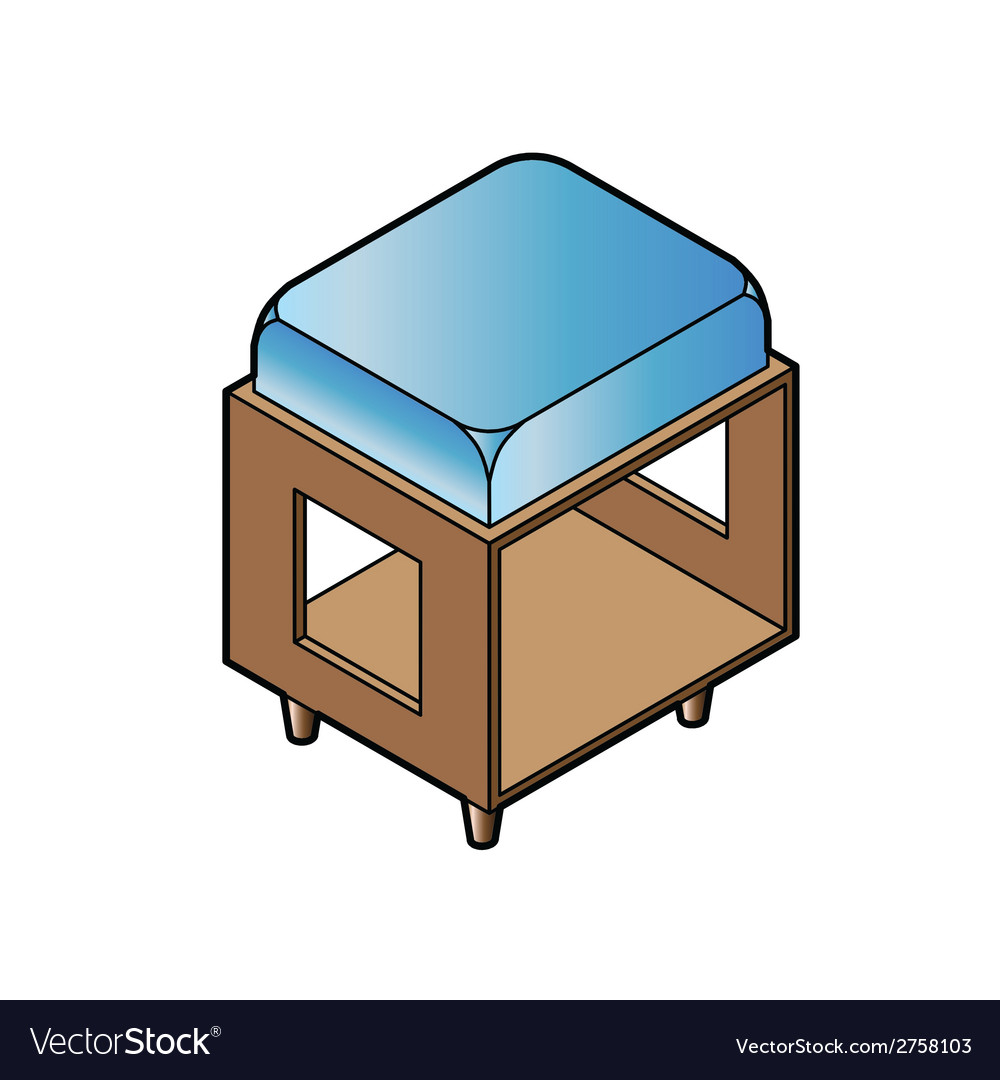 Short stool chair vector | Price: 1 Credit (USD $1)