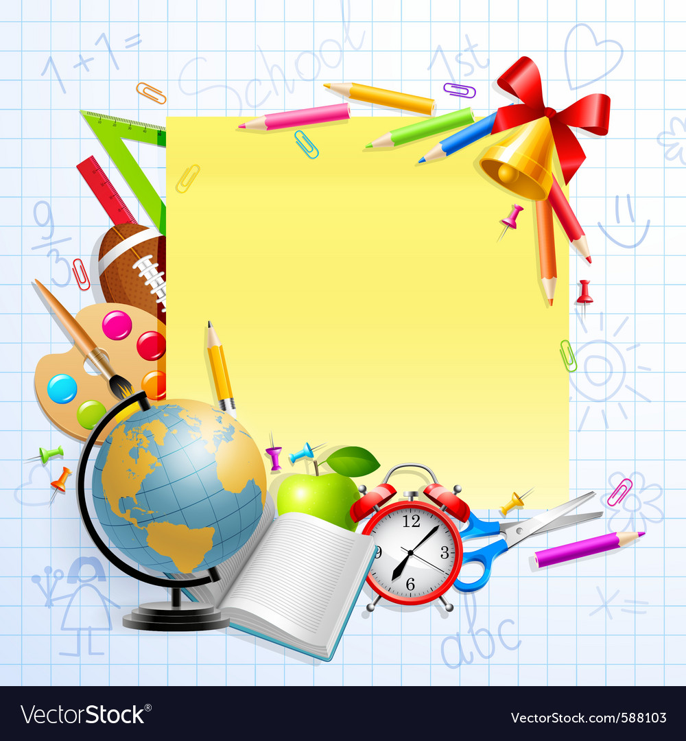 Stationery and objects vector | Price: 5 Credit (USD $5)