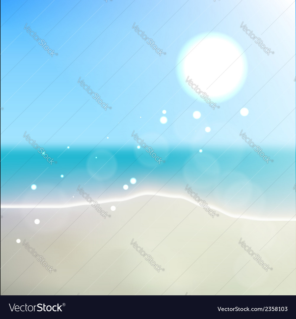 Summer beach vector | Price: 1 Credit (USD $1)