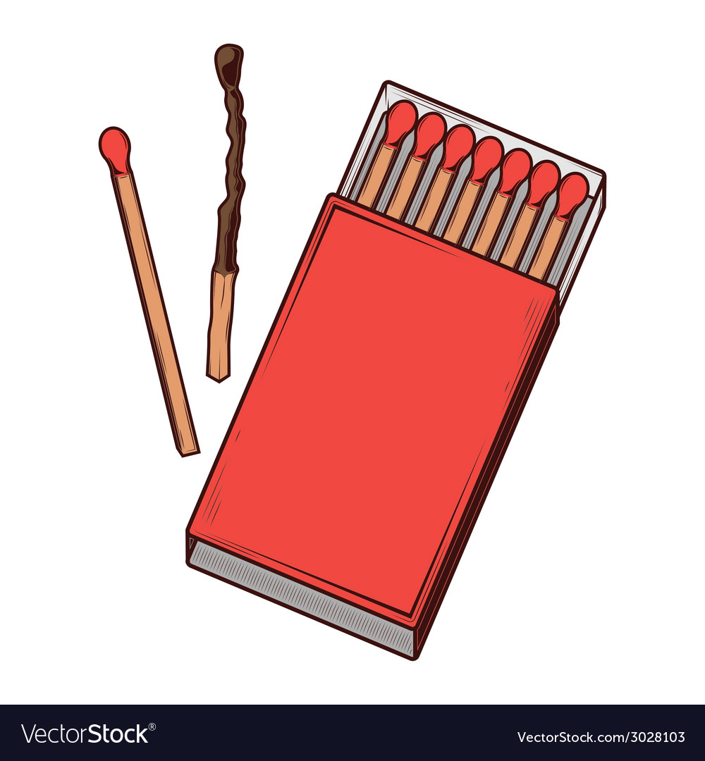 Top view red matchbox vector | Price: 1 Credit (USD $1)