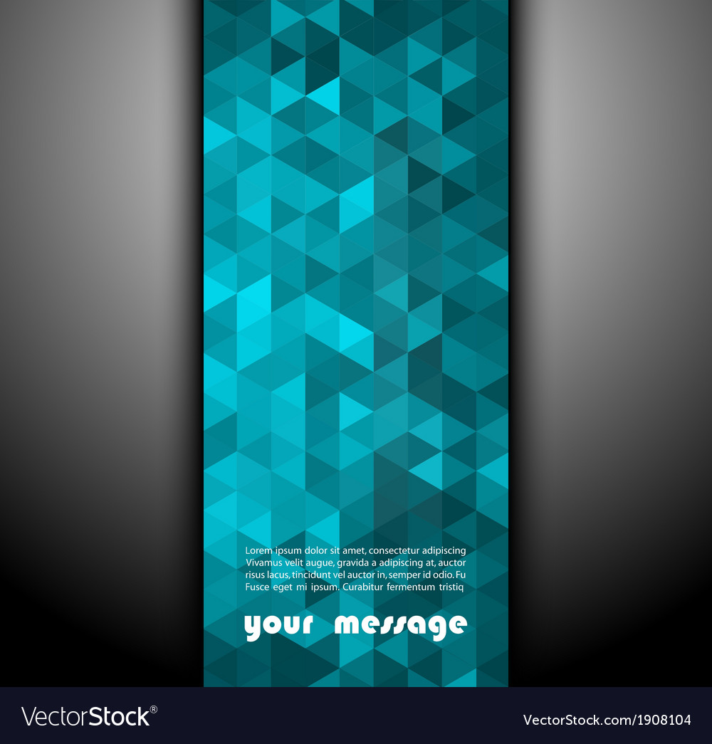 Abstract banner with triangle shapes vector | Price: 1 Credit (USD $1)