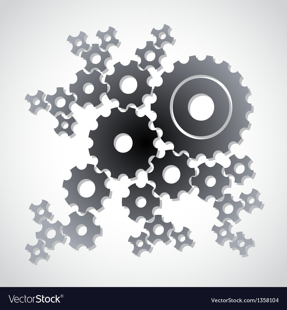 Cog gears background vector | Price: 1 Credit (USD $1)