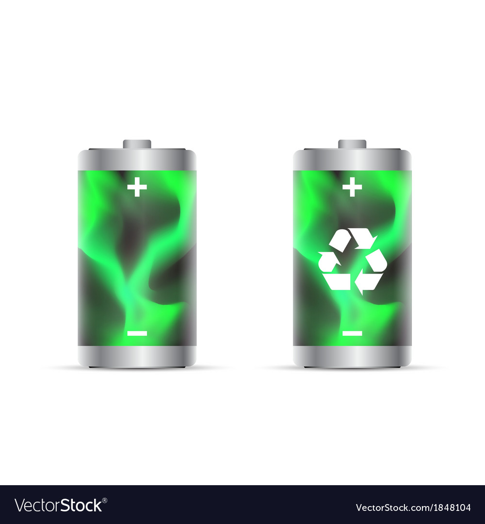 Eco battery vector | Price: 1 Credit (USD $1)