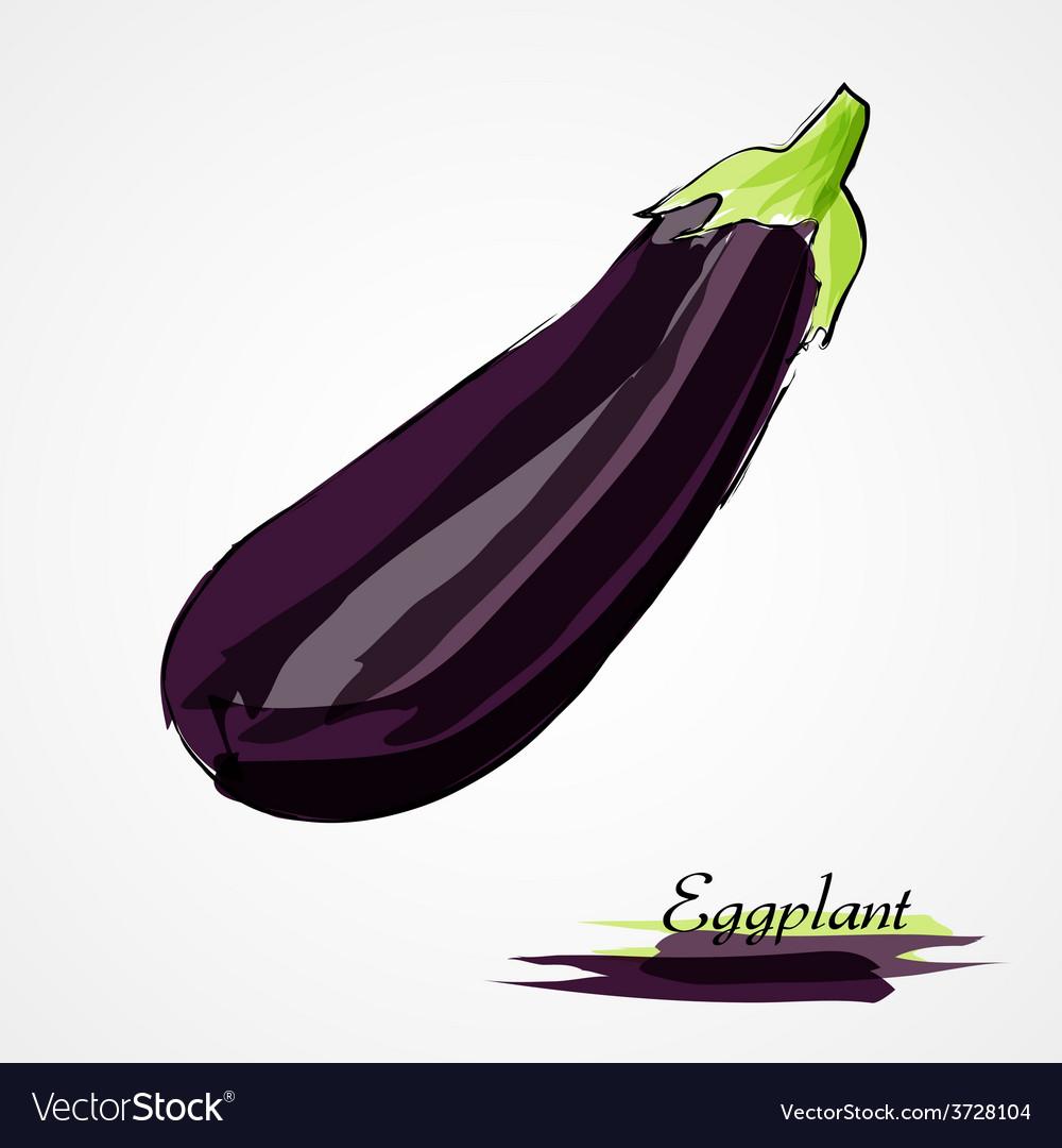 Eggplant vector | Price: 1 Credit (USD $1)