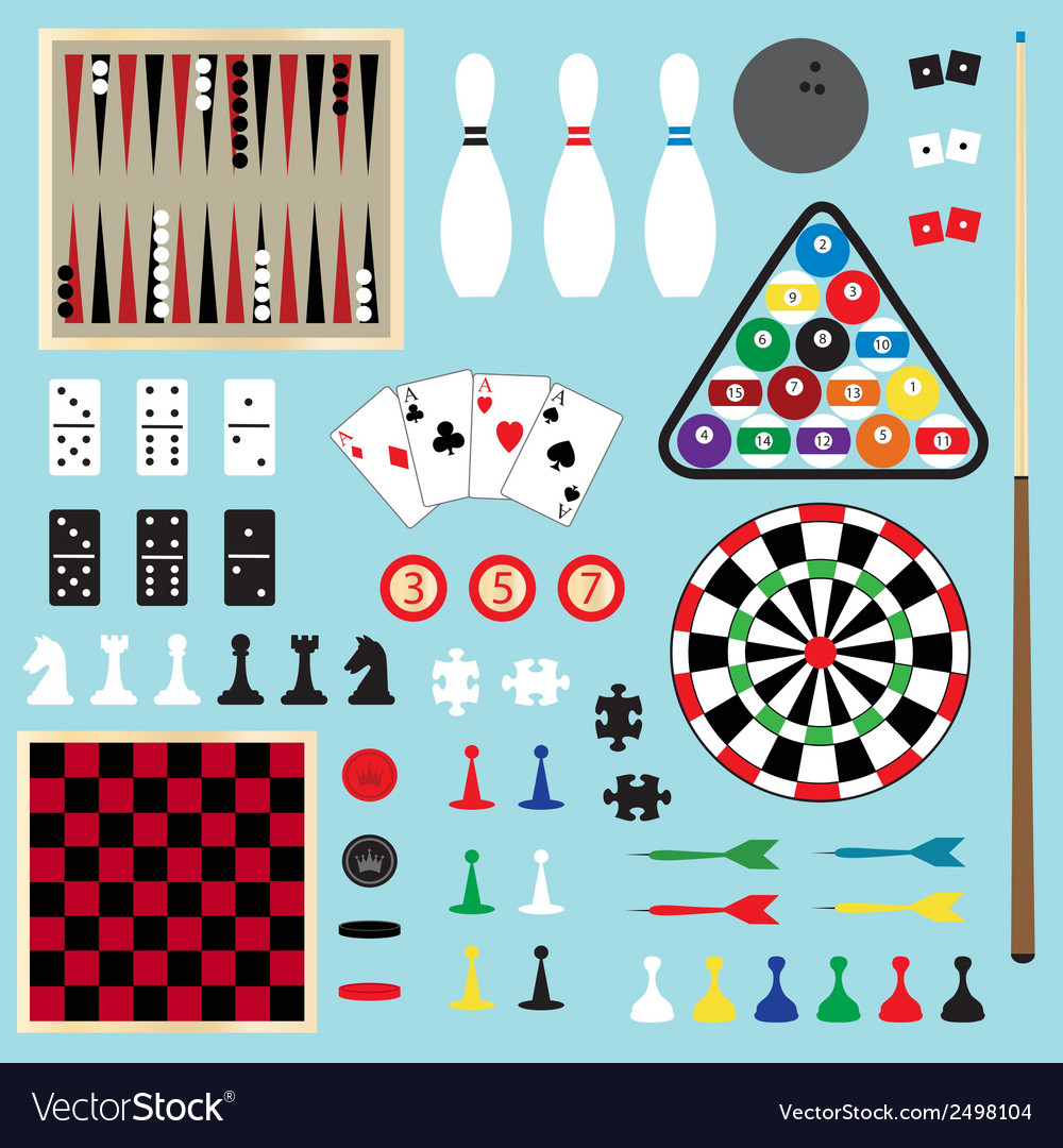 Games clipart vector | Price: 1 Credit (USD $1)