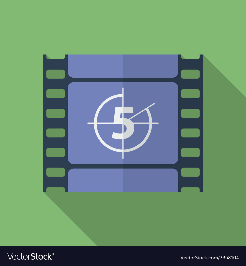 Icon of film frame cinema film flat style vector | Price: 1 Credit (USD $1)