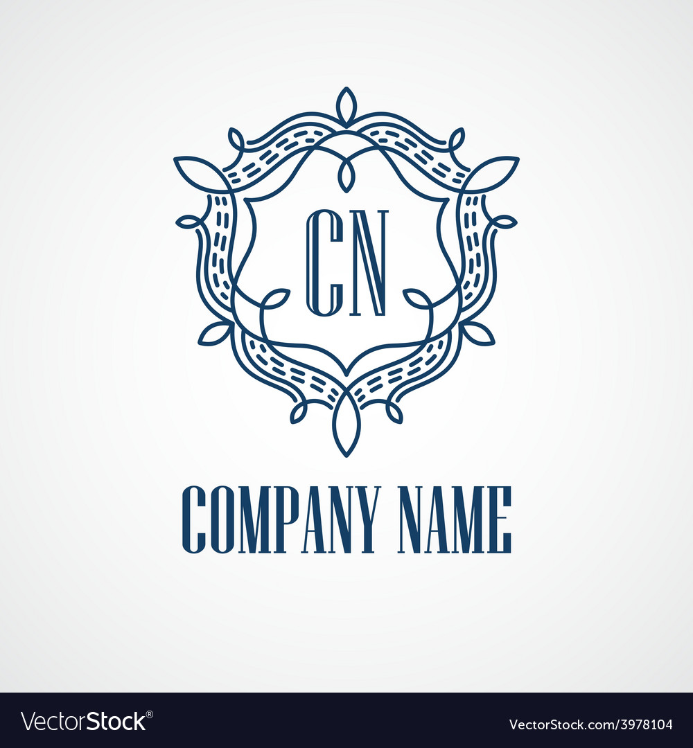 Monogram logos vintage concepts vector | Price: 1 Credit (USD $1)