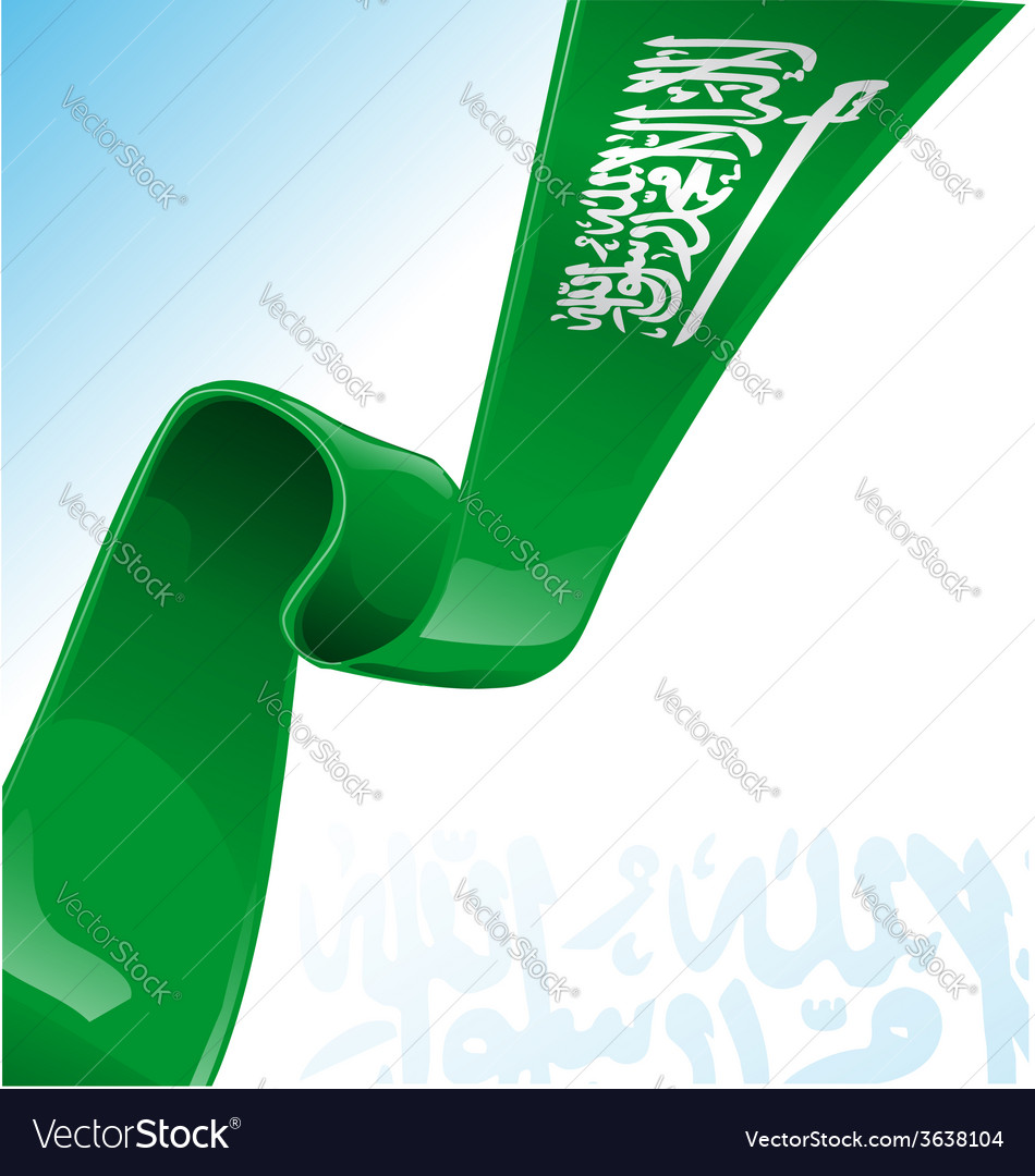 Saudi arabia flag on background vector   Price: 1 Credit (USD $1)