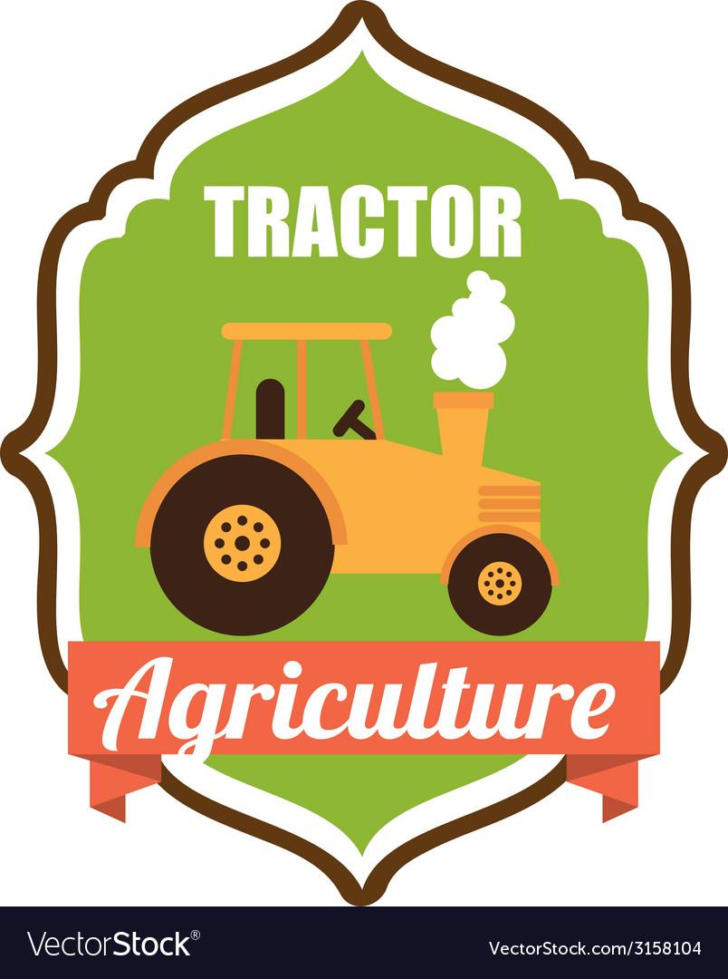 Tractor design vector | Price: 1 Credit (USD $1)