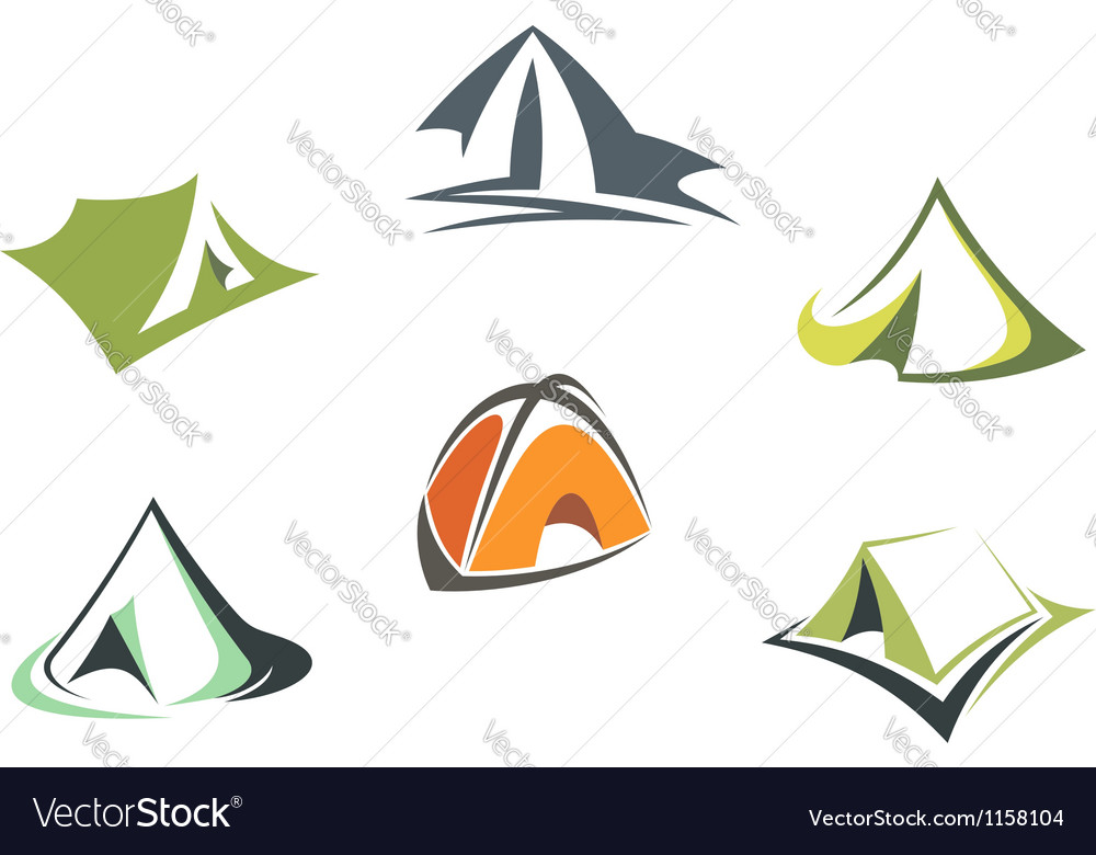 Travel and adventure camp tents vector | Price: 1 Credit (USD $1)