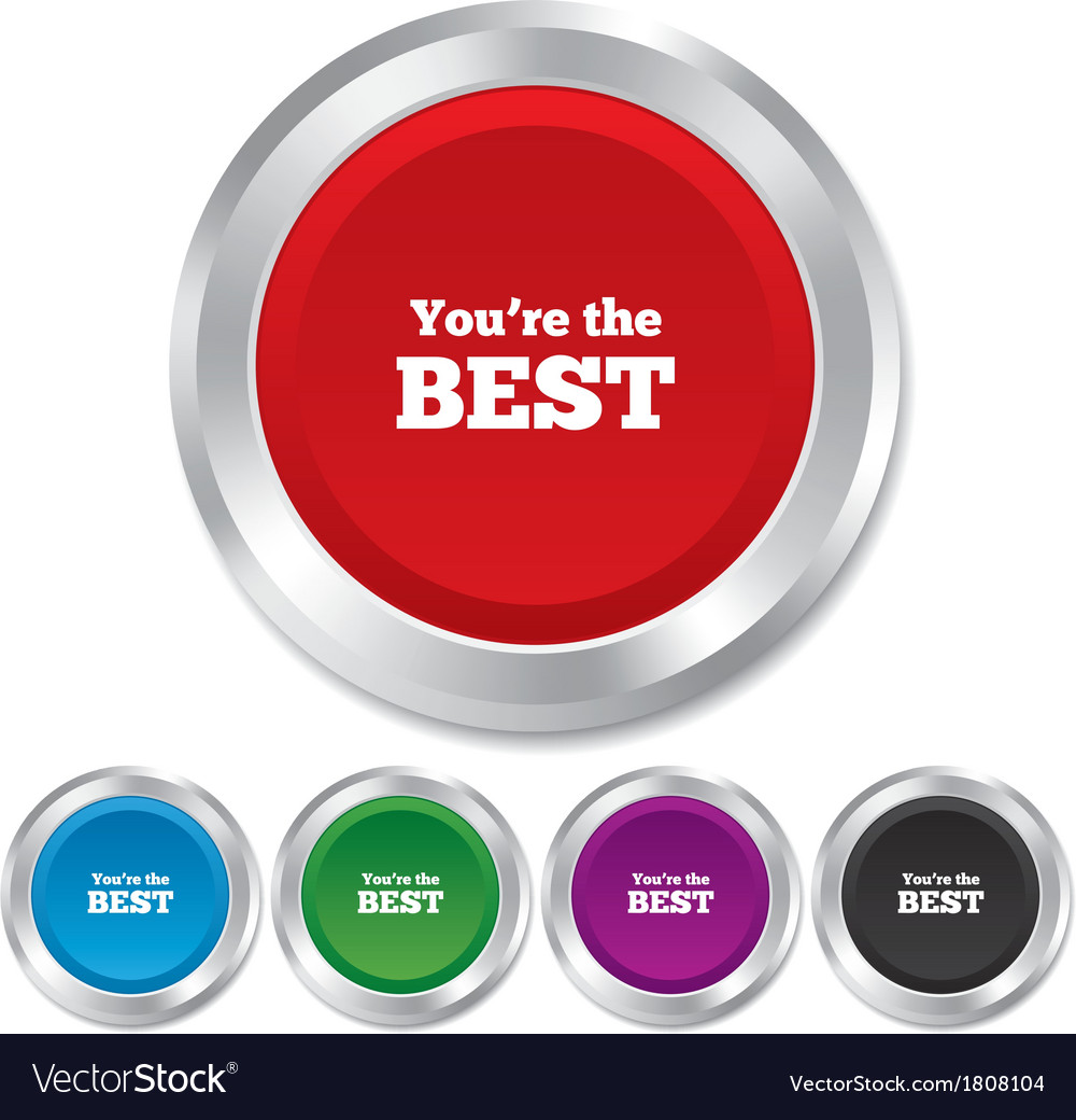 You are the best icon customer award symbol vector | Price: 1 Credit (USD $1)