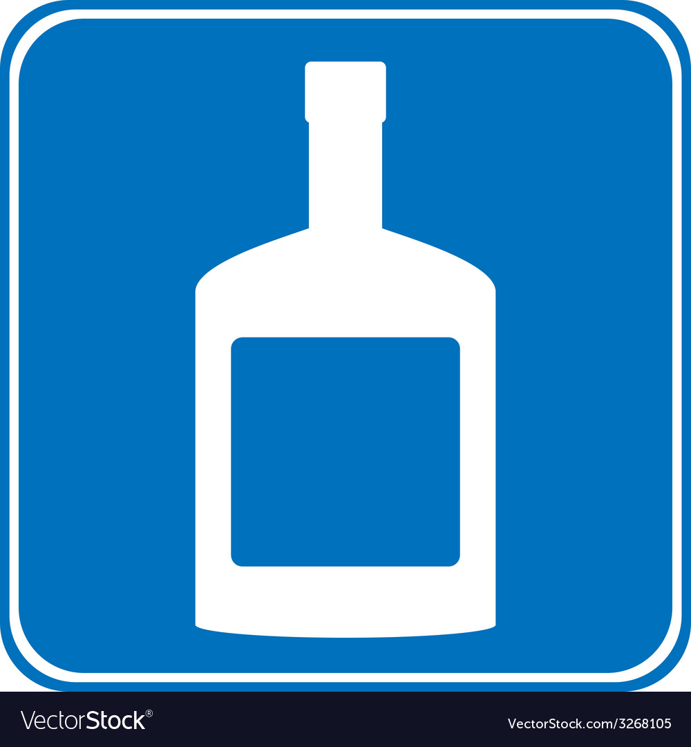 Bottles of cognac sign is allowed to drink vector | Price: 1 Credit (USD $1)