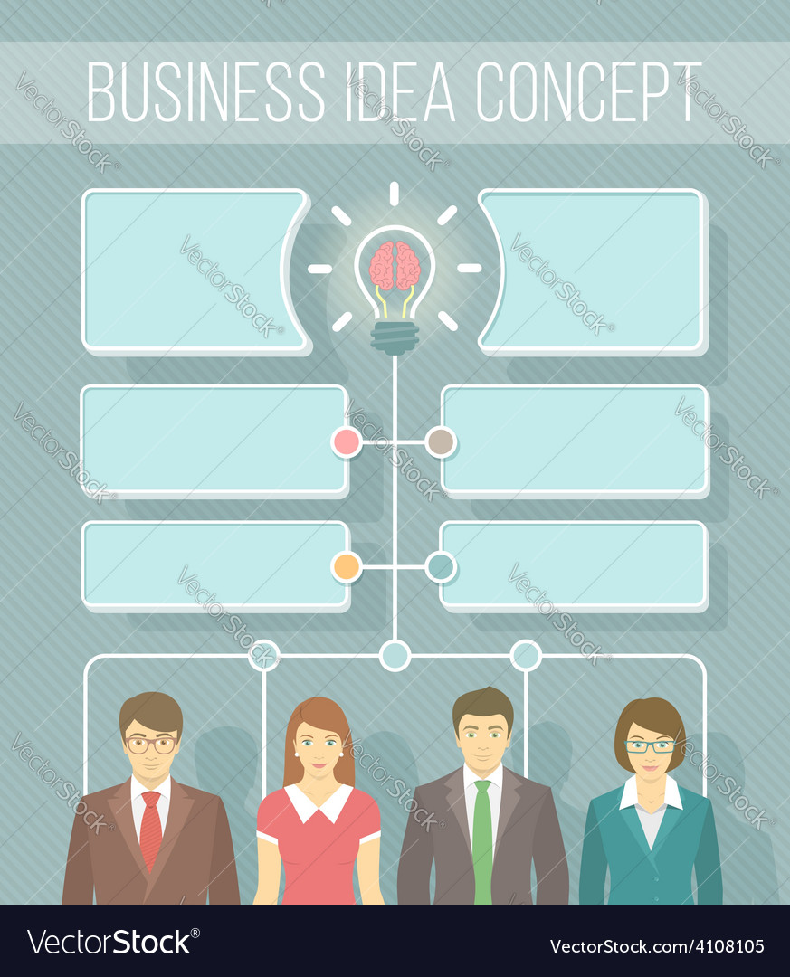 Business idea infographics vector | Price: 1 Credit (USD $1)