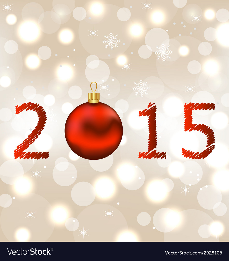 Happy new year shimmering background vector   Price: 1 Credit (USD $1)