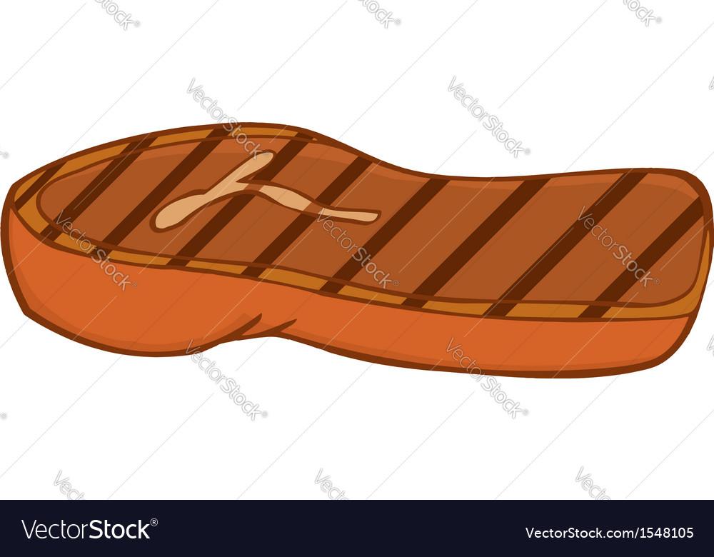 Juicy steak cartoon vector | Price: 1 Credit (USD $1)