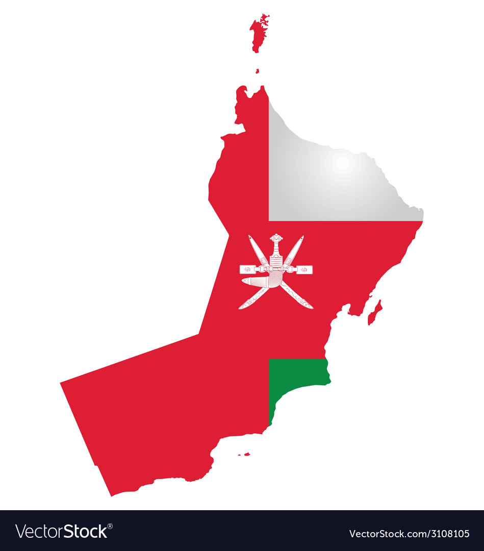 Oman flag vector | Price: 1 Credit (USD $1)