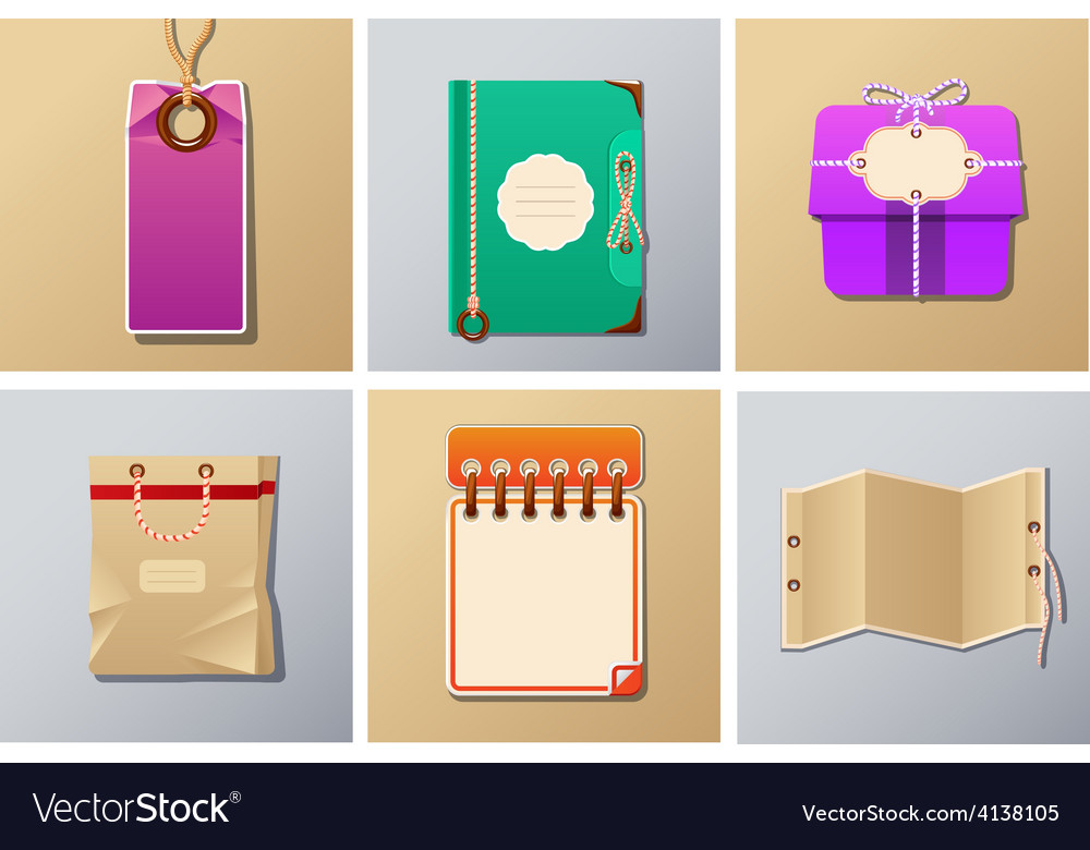 Packing and tag set vector | Price: 3 Credit (USD $3)