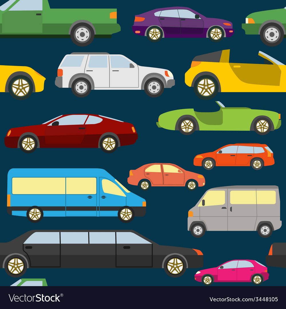 Passenger car background seamless vector | Price: 1 Credit (USD $1)