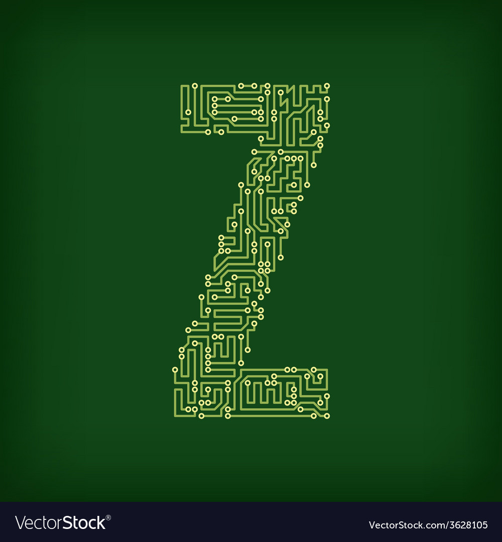 Pcb letter and digits vector   Price: 1 Credit (USD $1)