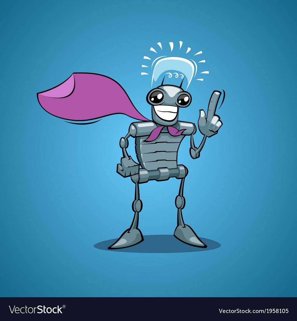 Robot have idea vector | Price: 1 Credit (USD $1)
