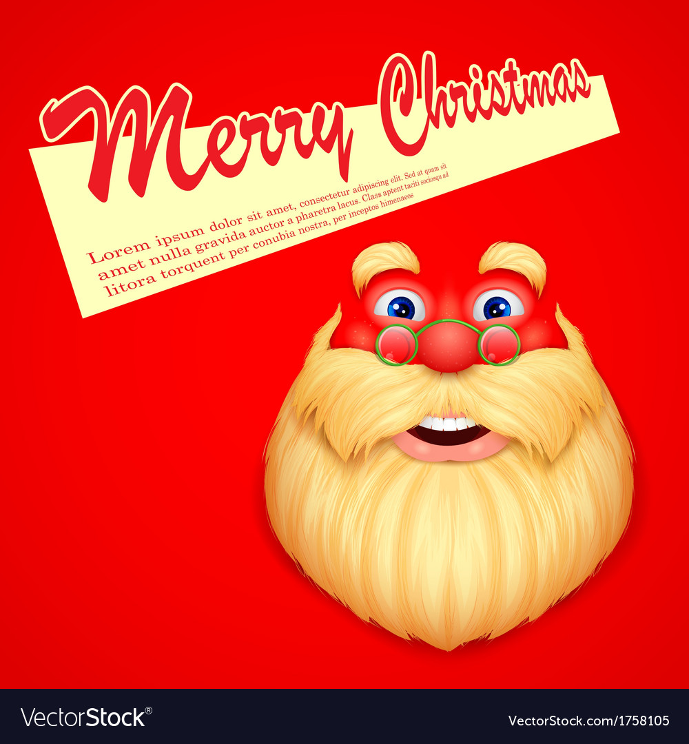 Santa claus wishing merry christmas vector | Price: 1 Credit (USD $1)