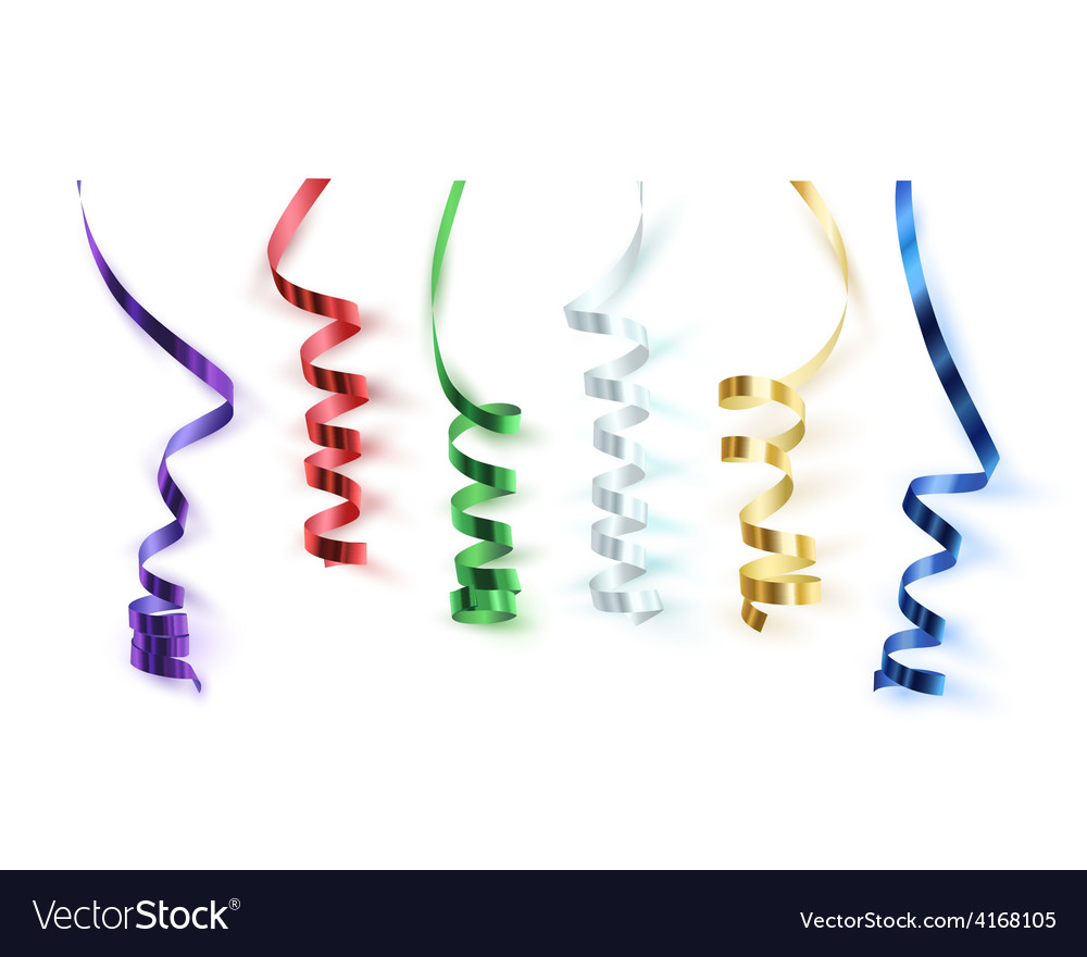 Set of colorful ribbons vector | Price: 1 Credit (USD $1)