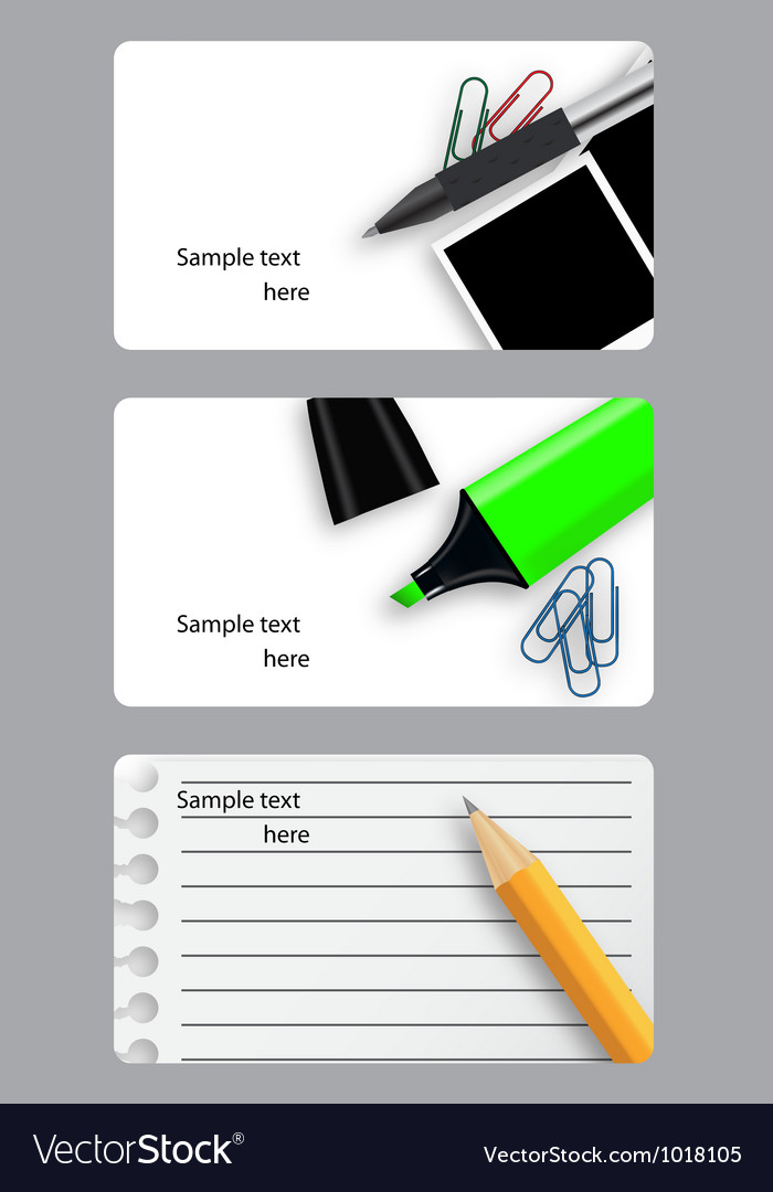 Set of modern beautiful business cards vector | Price: 1 Credit (USD $1)