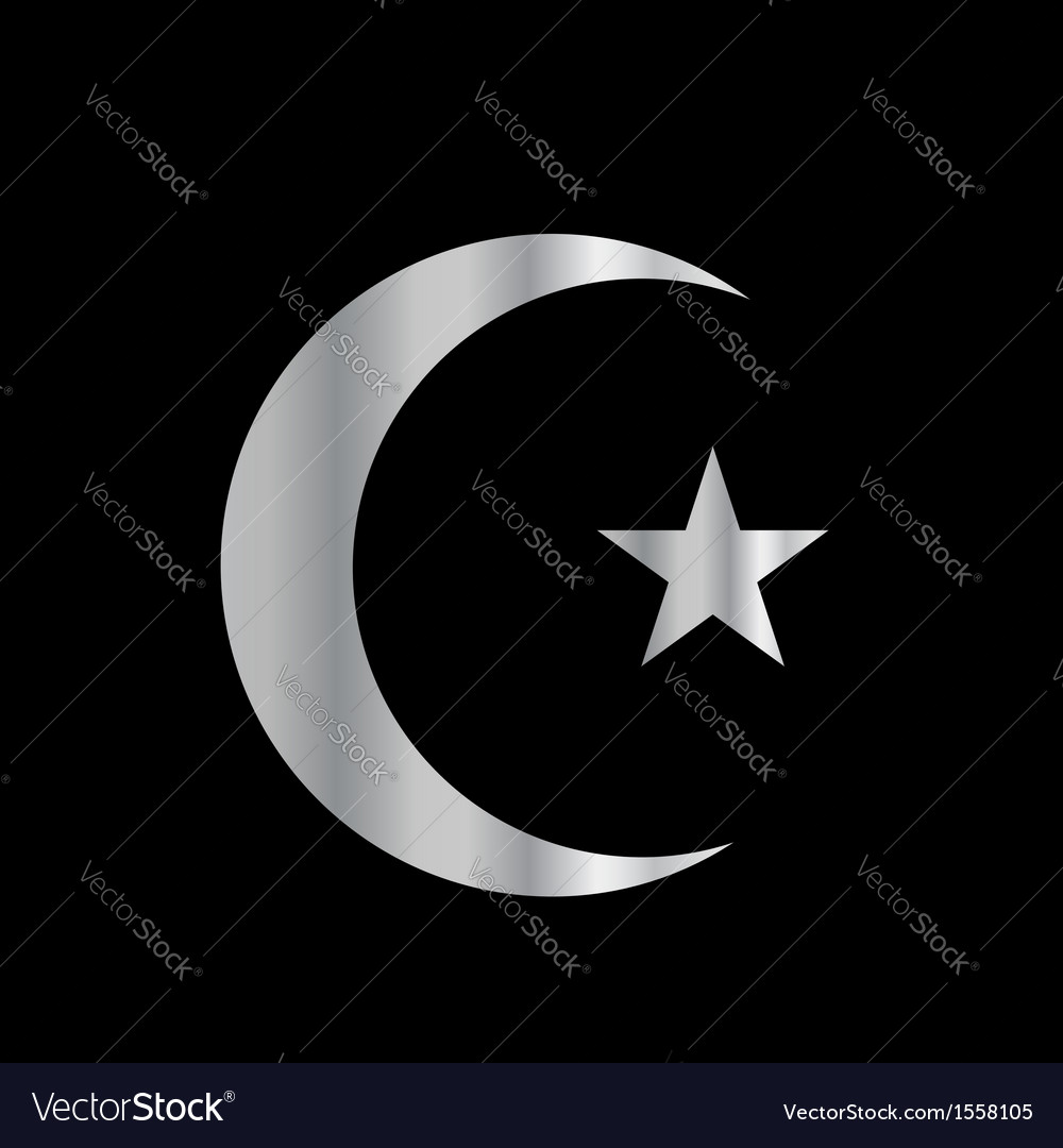 Symbol of islam vector | Price: 1 Credit (USD $1)