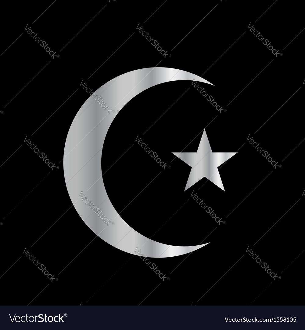 Symbol of islam vector | Price: 1 Credit (USD $1)