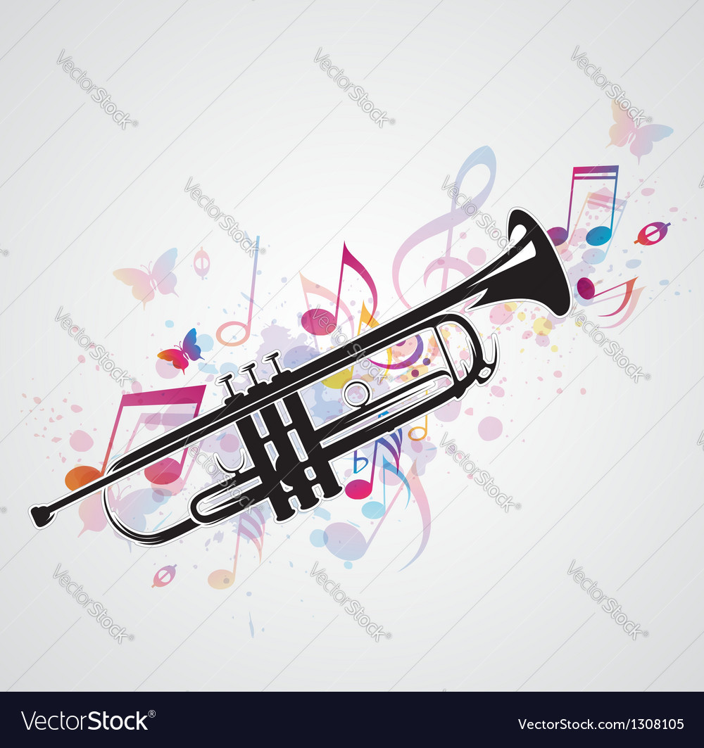 Trumpet black vector | Price: 1 Credit (USD $1)