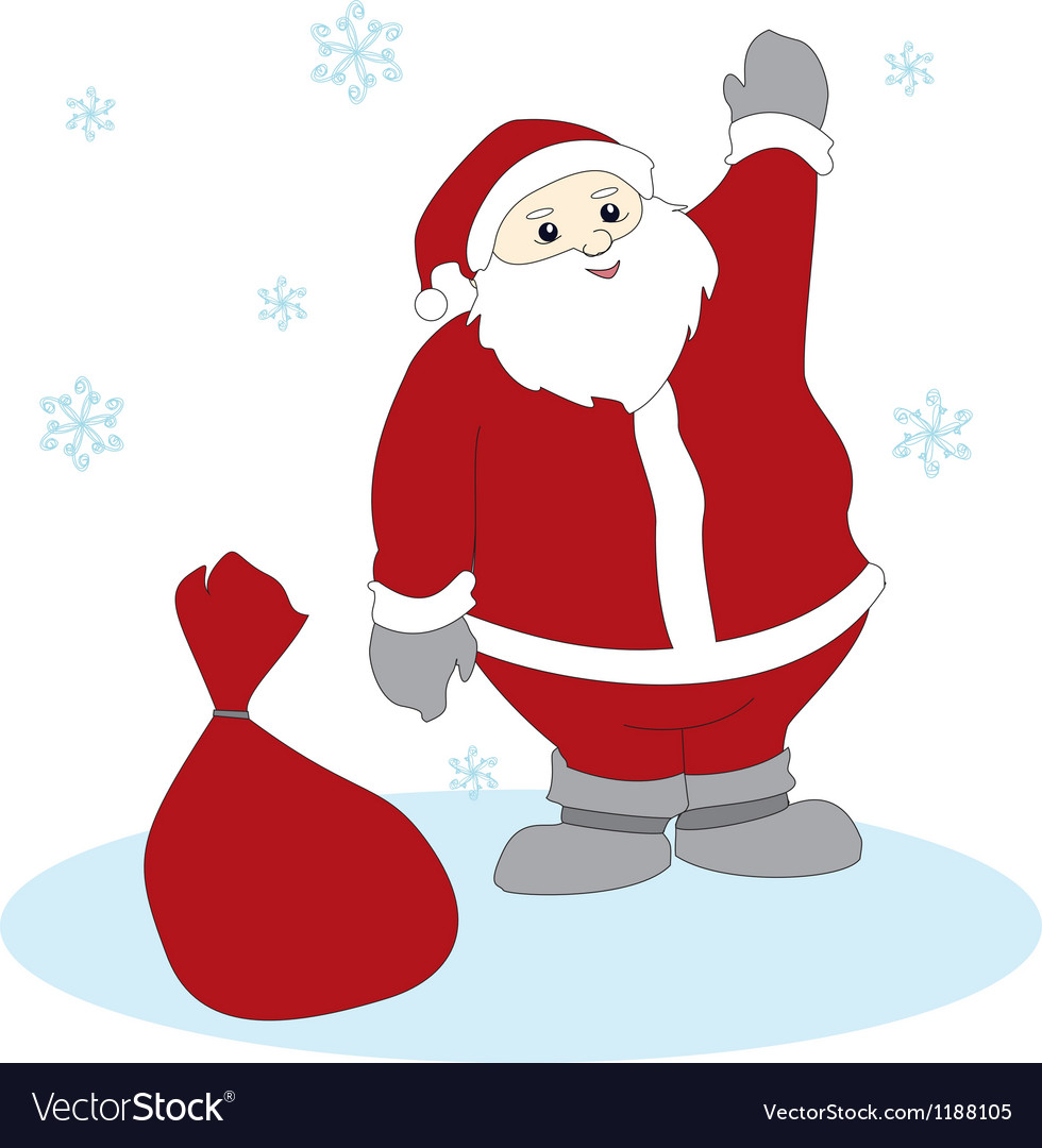 Waving santa claus vector | Price: 1 Credit (USD $1)