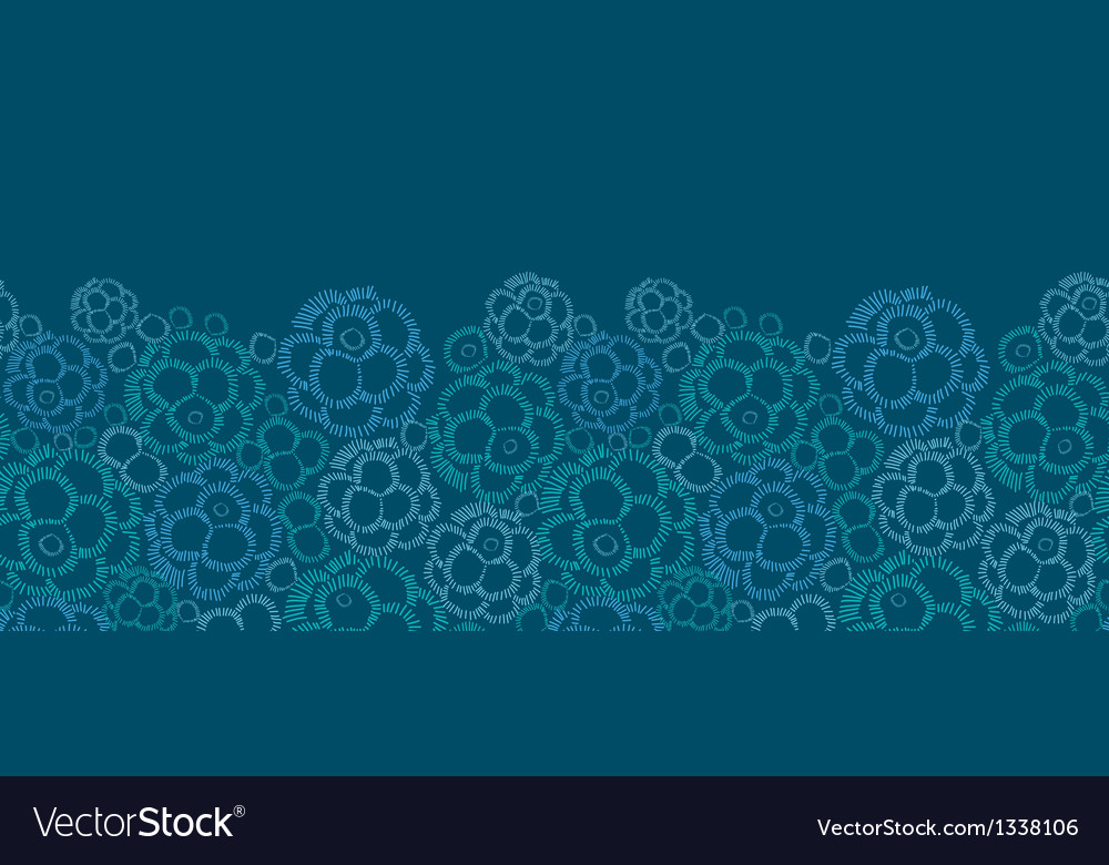Abstract underwater plants horizontal seamless vector | Price: 1 Credit (USD $1)