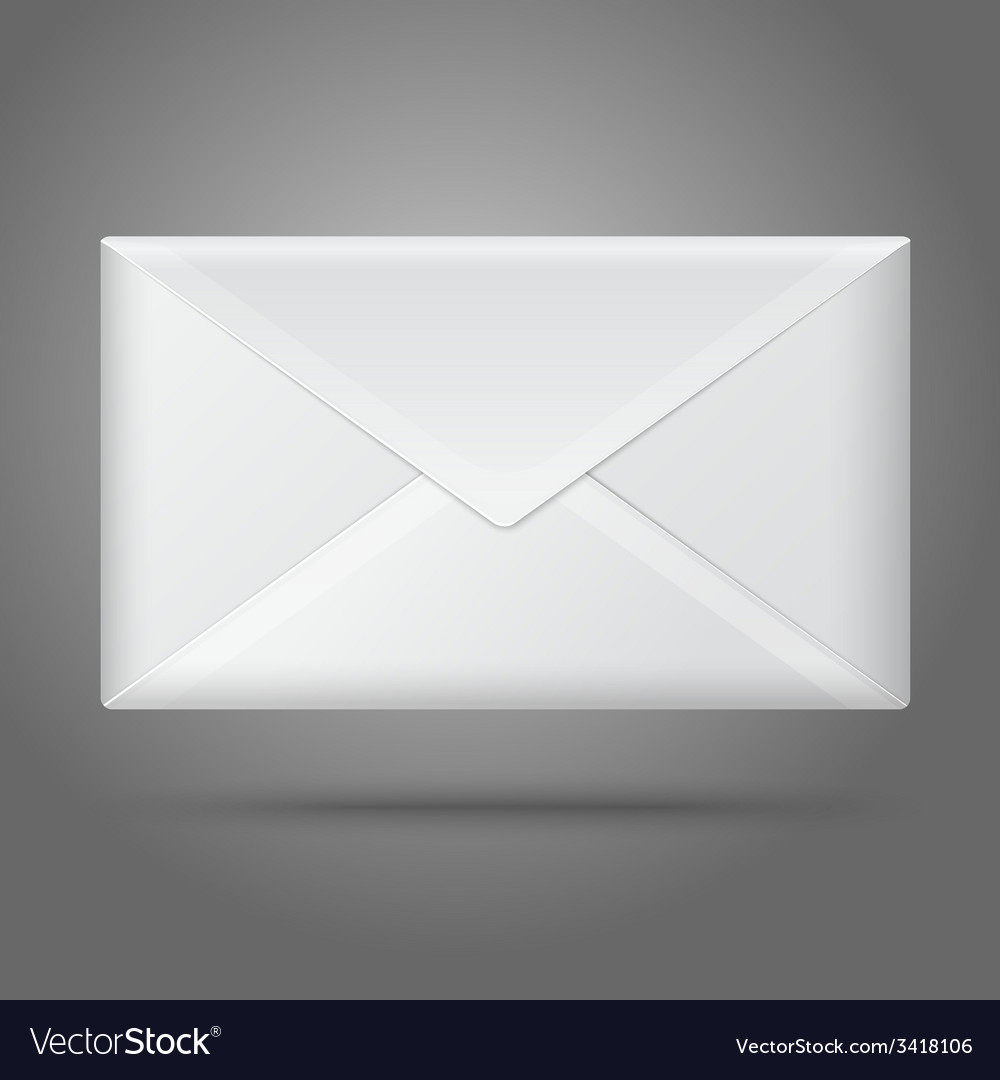 Blank white closed envelope isolated vector | Price: 1 Credit (USD $1)