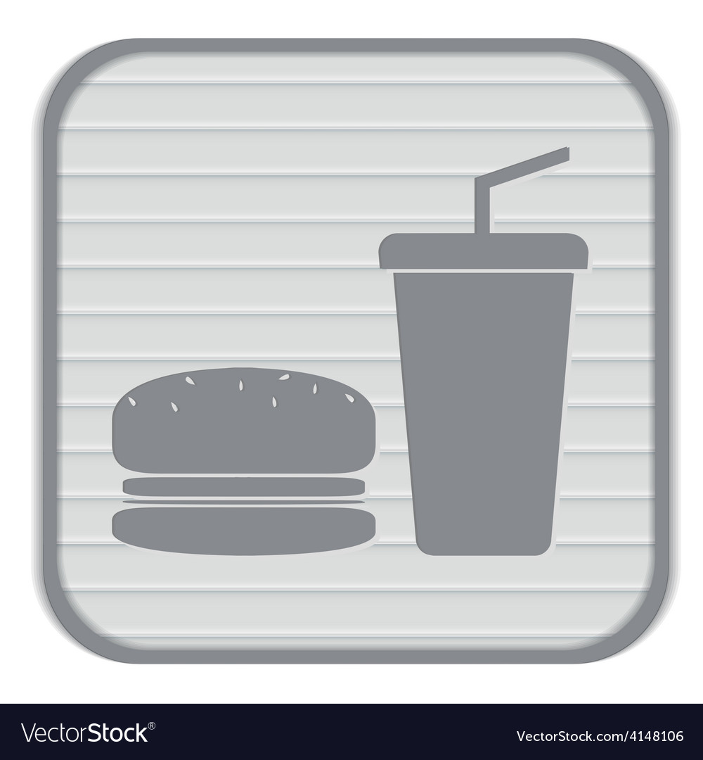 Burger and paper cup symbol of fast food vector | Price: 1 Credit (USD $1)