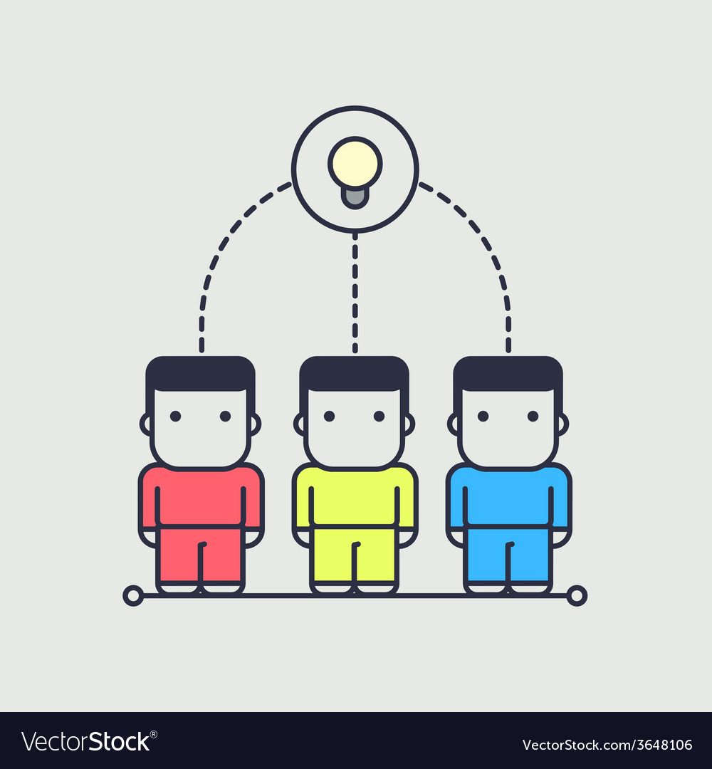 Characters created a collective idea vector | Price: 1 Credit (USD $1)